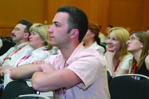 Гости конференции знакомятся с возможностями Autodesk Inventor