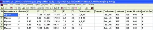 Рис. 6. Окно ввода трасс с высчитанным параметром Соединение