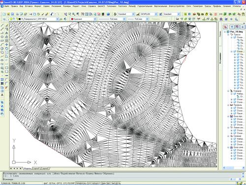 Рис. 1. Триангуляционная модель местности