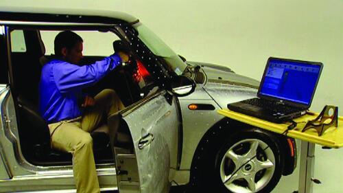 Сканирование панелей автомобиля