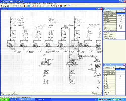 Рис. 5. Один из вариантов представления результатов расчета УР (модуль EnergyCS для расчета УР)