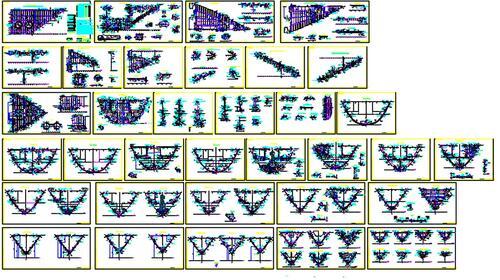 Рис. 1. Чертеж носовой секции морского транспортного судна на 34 листах формата А1. Сделан по модели, выполненной в САПР CATIA