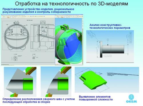 Рис. 5. Отработка конструкции изделия на технологичность по 3D-модели