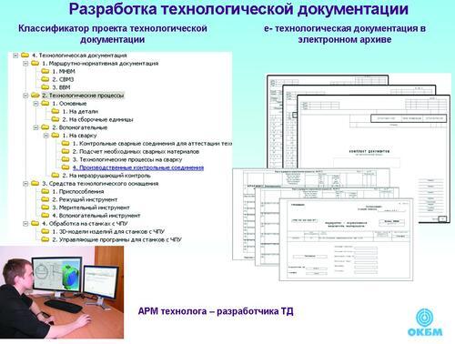 Рис. 6. Разработка электронной технологической документации с использованием специализированного АРМ технолога