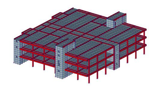 Рис. 2. Расчетная модель здания