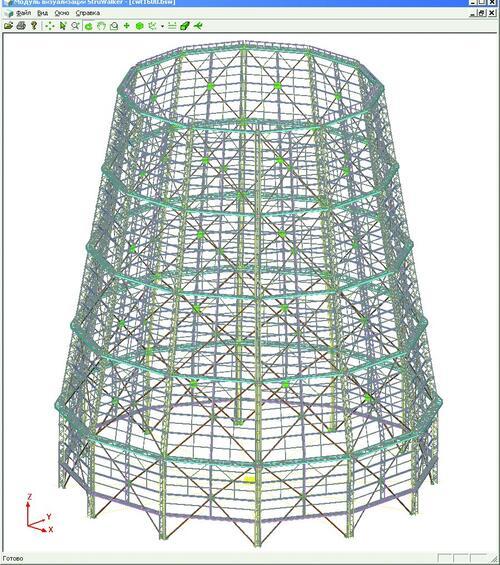 Проект ООО НПО «ИРВИК»: Башенная градирня площадью орошения 1600 м2