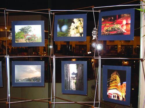 Профессиональная фотовыставка в Египте. Конструкции - Maxibit Network, печать выполнена на Canon iPF 8000