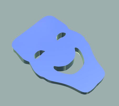 Рис. 2. Модель маски при диагностической заливке