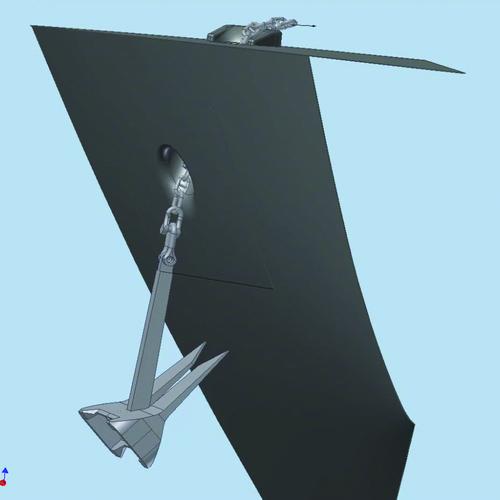 Рис. 10а. Кадры полученного видеоролика, иллюстрирующего процесс затягивания якоря в якорный клюз