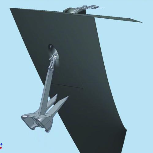 Рис. 10б. Кадры полученного видеоролика, иллюстрирующего процесс затягивания якоря в якорный клюз