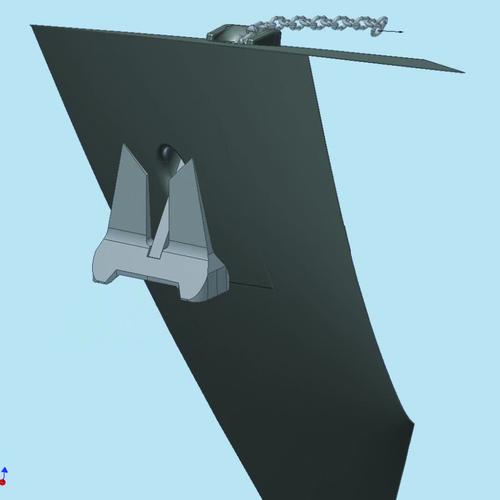 Рис. 10е. Кадры полученного видеоролика, иллюстрирующего процесс затягивания якоря в якорный клюз