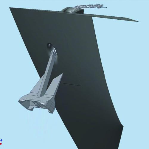 Рис. 10г. Кадры полученного видеоролика, иллюстрирующего процесс затягивания якоря в якорный клюз