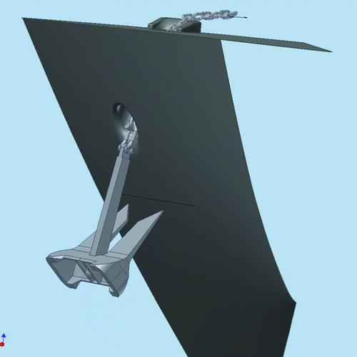 Рис. 10в. Кадры полученного видеоролика, иллюстрирующего процесс затягивания якоря в якорный клюз