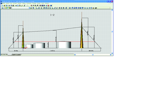 Рис. 7. Пример вертикального сечения