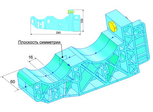 Рис. 2. Трехмерная модель консоли