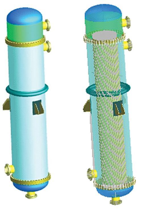 Рис. 4. Вертикальный аппарат с компенсатором