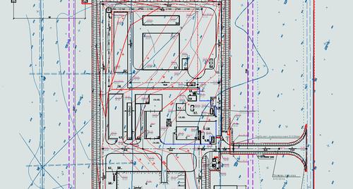 Рис. 6. Фрагмент плана организации рельефа