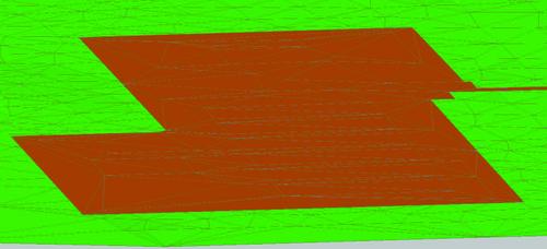 Рис. 7. Проектная поверхность (насыпь)