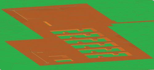 Рис. 8. Проектная  поверхность с выемкой грунта от устройства шламонакопителей и водоотводных канав