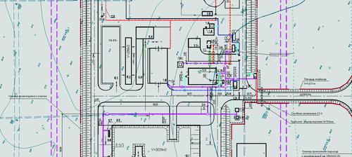 Рис. 12. Фрагмент сводного плана инженерных сетей