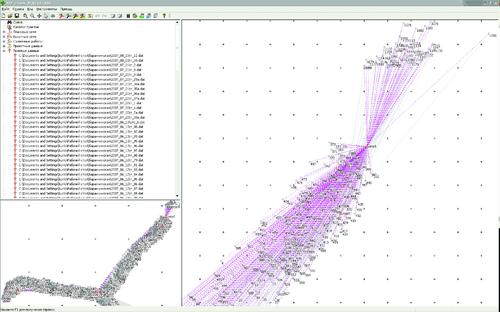 Рис. 10. Обработка геодезических данных