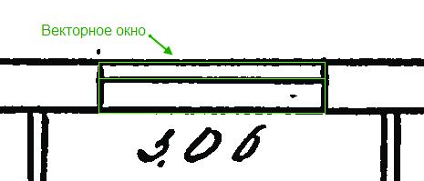 Рис. 4. Шаблон окна для распознавания