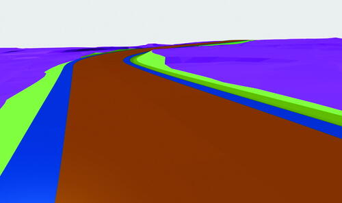 Рис. 1. Представление коридора и поверхности в виде 3D-граней