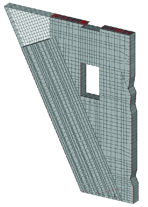 Рис. 2а. Пространственная расчетная модель узла