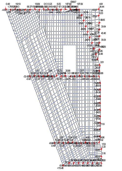 Рис. 2б. Пространственная расчетная модель узла