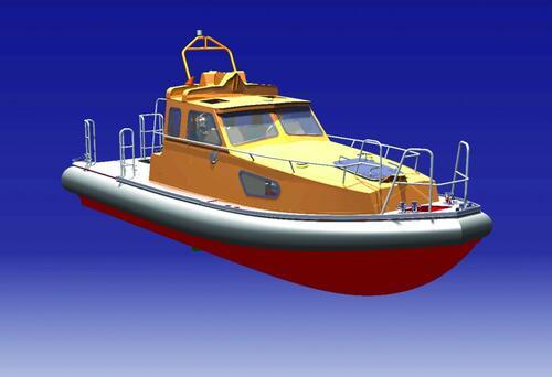 Рис. 1. Визуализация катера, выполненная средствами CATIA