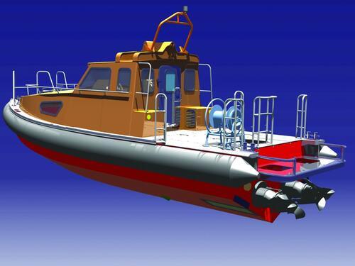 Рис. 2. Визуализация катера, выполненная средствами CATIA