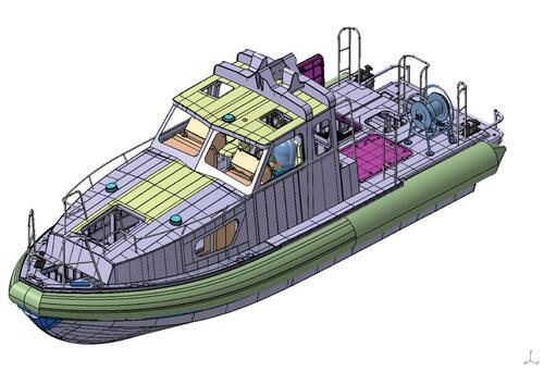 Рис. 4. Вид сбоку ЭЦМ катера