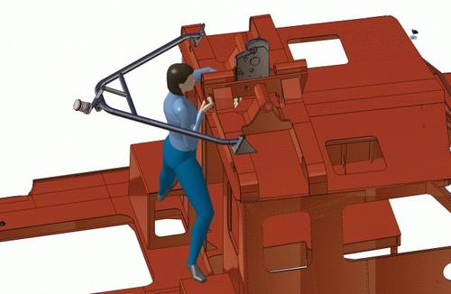 Рис. 15б. Проверка возможности обслуживания СПУ при заваливании мачты