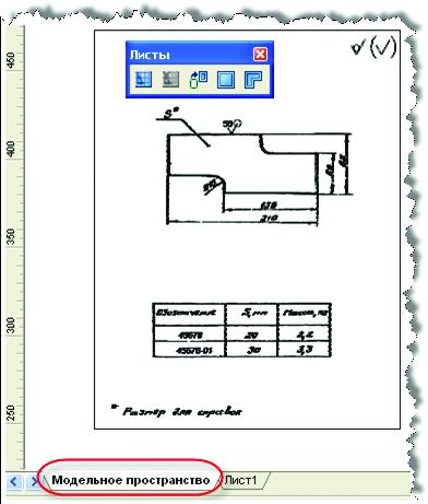 Рис.5. Пространство модели