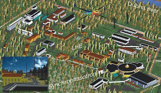 г. Дубна. Площадка Лаборатории Высоких Энергий (ЛВЭ), Объединенного Янститута Ядерных Исследований (ОИЯИ) и всемирно известный Синхрофазатрон