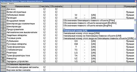 Рис. 9. Настройка автоматического обозначения элементов схемы