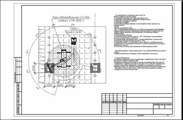 Рис. 12. Пример технологической карты на устройство фундамента, созданной с помощью ПО Стройплощадка