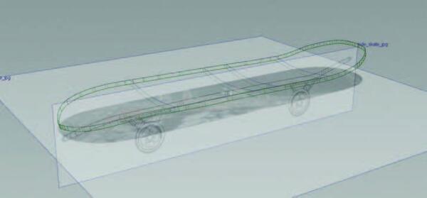 Рис. 6. Проекции в окне моделирования