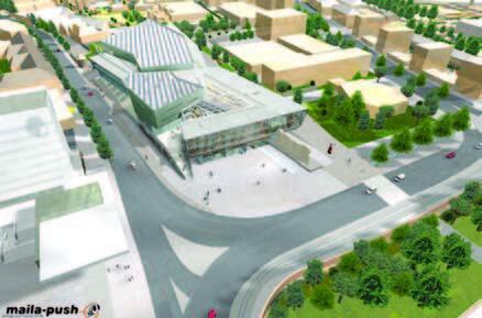 Проект конгресс-центра в застройке города © maila-push GmbH