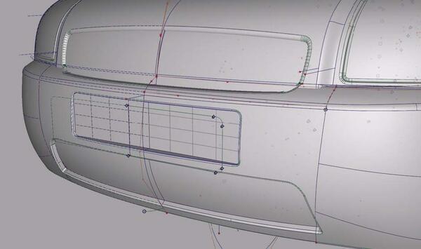 Рис. 6. Фрагмент модели передней части автомобиля