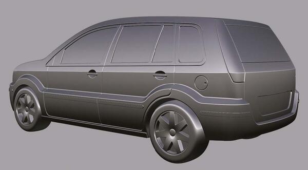 Рис. 8. Поверхностная модель экстерьера автомобиля, выполненная в Autodesk Alias