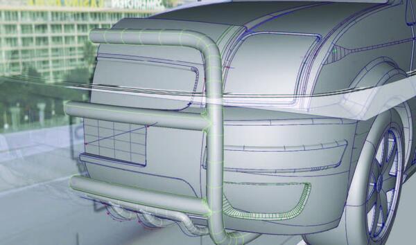 Рис. 11. Построение модели переднего обвеса
