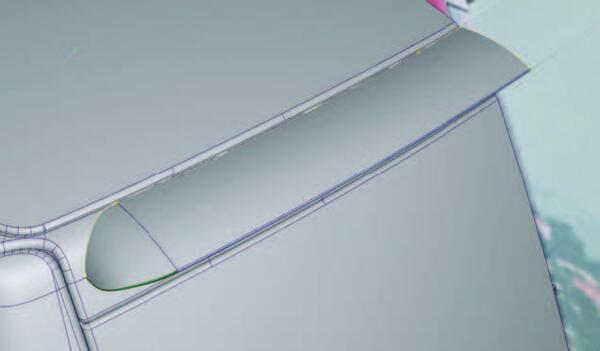 Рис. 12. Построение модели заднего спойлера