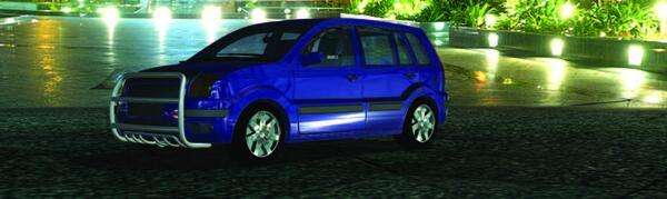 Рис. 15. Модель автомобиля с тюнингом, помещенная в окружающую среду с использованием программного продукта Autodesk Showcase
