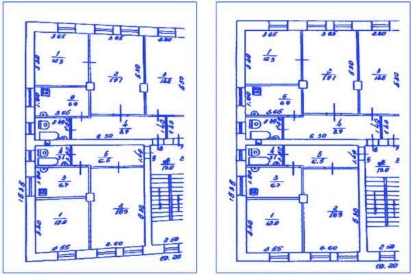 Рис. 8. Устранение смещения в геометрии