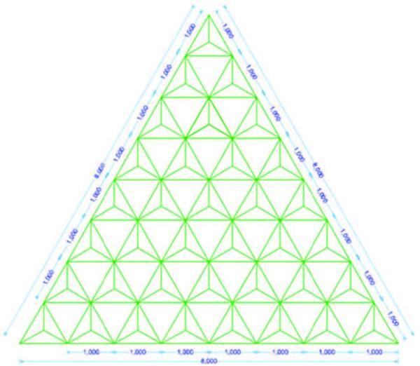 Рис. 2. Заполняем пирамидками основание большой пирамиды