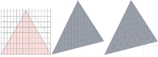 Рис. 7. Покрытие пирамиды сделаем с помощью навесных стен