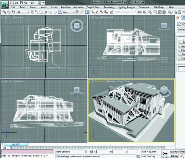 Рис. 5. Вид модели в программе Autodesk 3ds Max