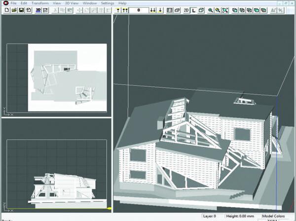 Рис. 6. Вид модели в программе ZPrint
