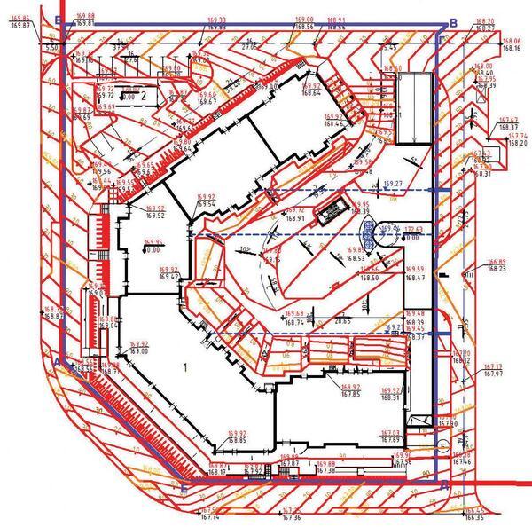 Рис. 2. Вертикальная планировка на участке
